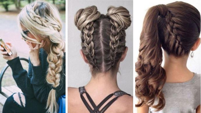 Back to School: 37 идей для причесок с косами | 37