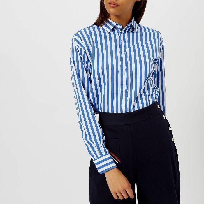 Рубашка в полоску: с чем и как носить | 10