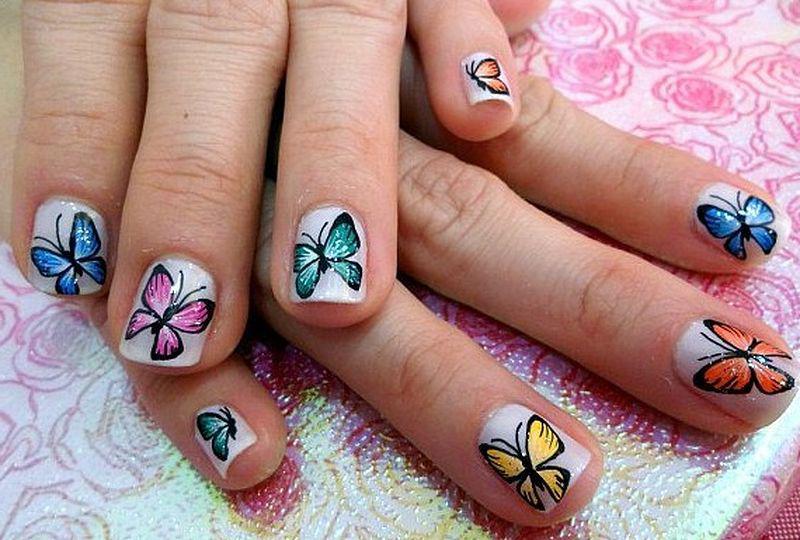 39 идей маникюра с бабочками — самые весенние идеи 10