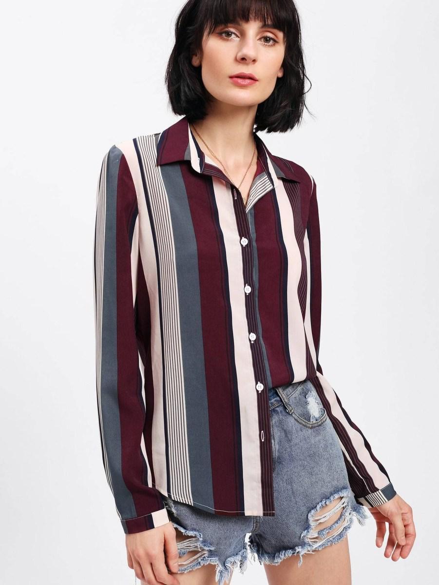 Рубашка в полоску: с чем и как носить | 11