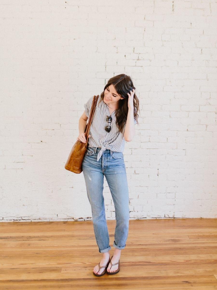 Рубашка в полоску: с чем и как носить | 12