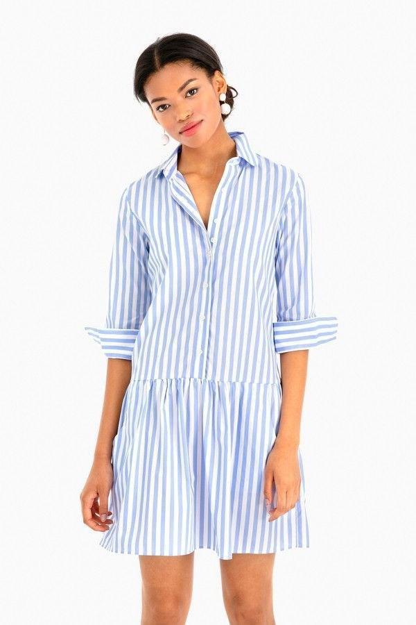 Рубашка в полоску: с чем и как носить | 14