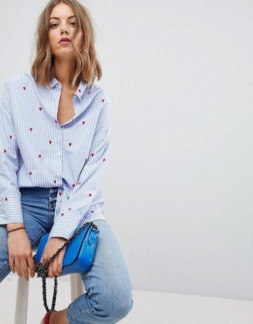 Рубашка в полоску: с чем и как носить | 19