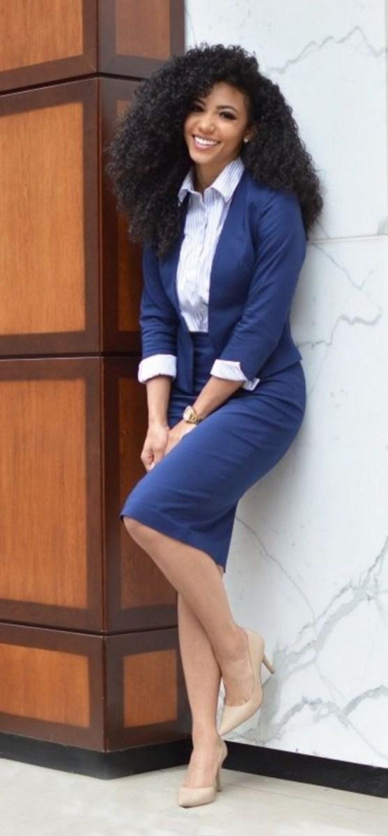 35 женственных образов для бизнес-леди | 19