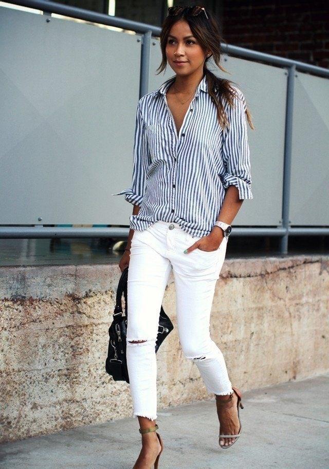 Рубашка в полоску: с чем и как носить | 2