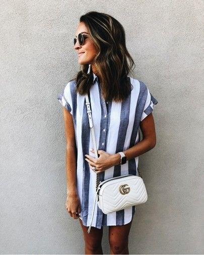 Рубашка в полоску: с чем и как носить | 21