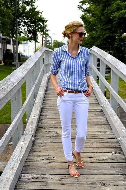 Рубашка в полоску: с чем и как носить | 22