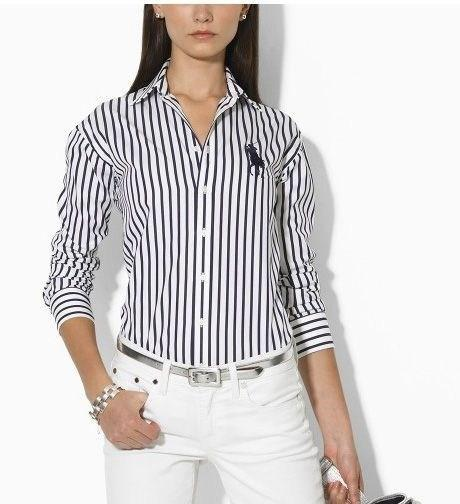 Рубашка в полоску: с чем и как носить | 23