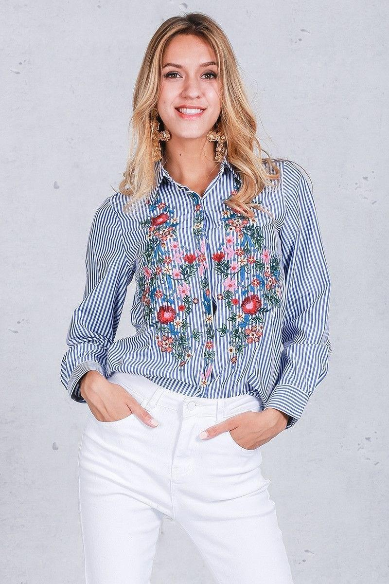 Рубашка в полоску: с чем и как носить | 25
