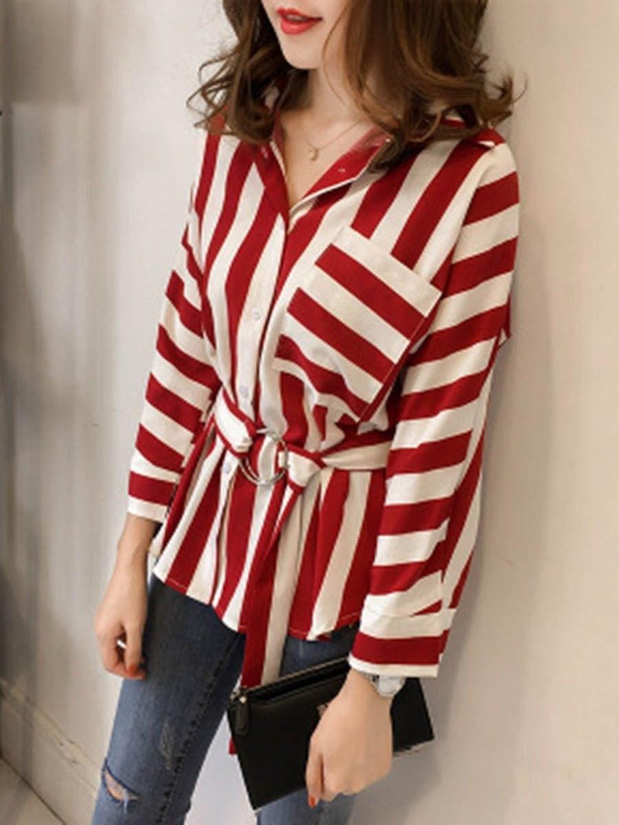 Рубашка в полоску: с чем и как носить | 26
