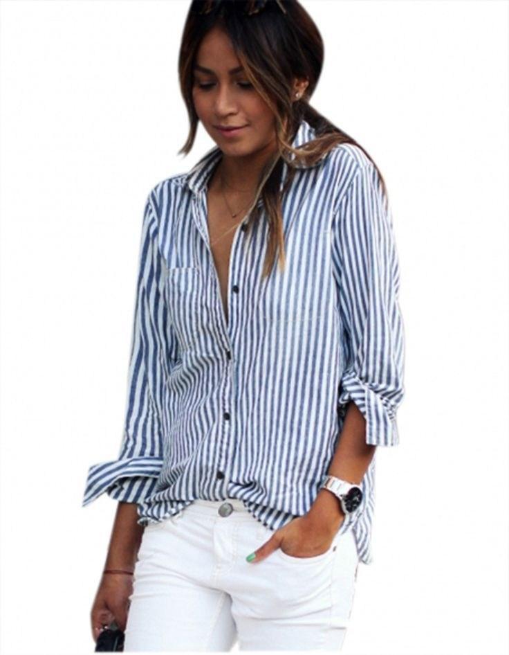 Рубашка в полоску: с чем и как носить | 28