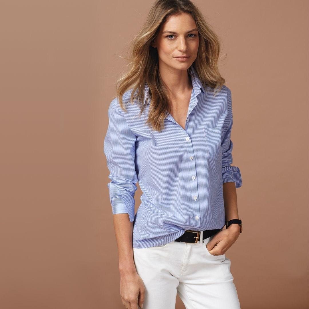 Рубашка в полоску: с чем и как носить | 3