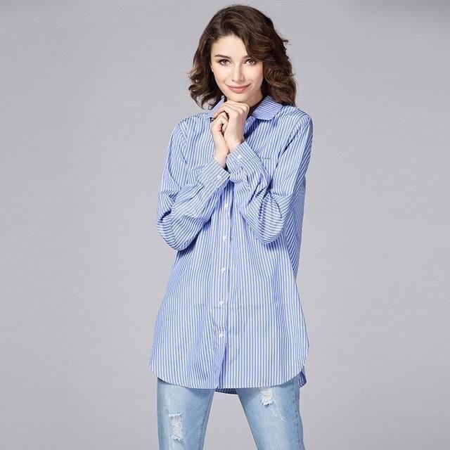 Рубашка в полоску: с чем и как носить | 33