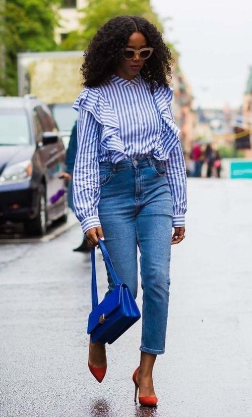 Рубашка в полоску: с чем и как носить | 4