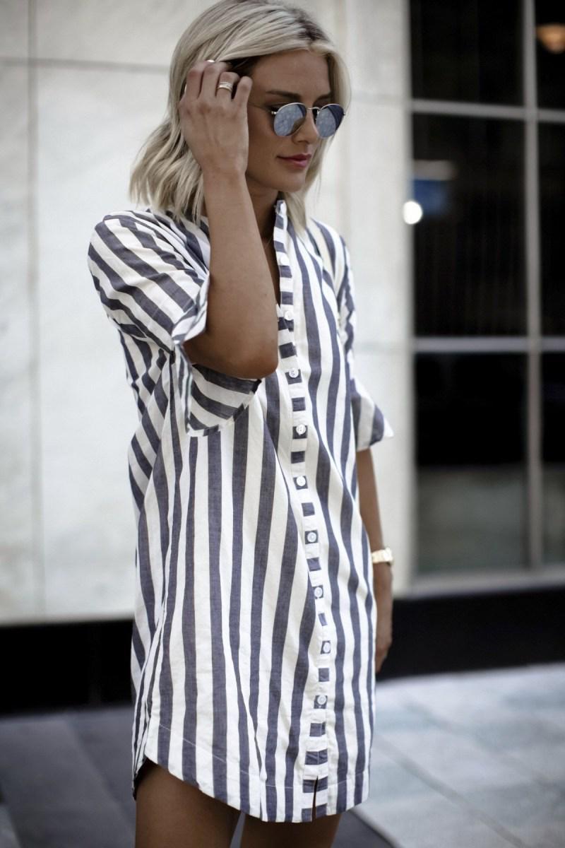 Рубашка в полоску: с чем и как носить | 7