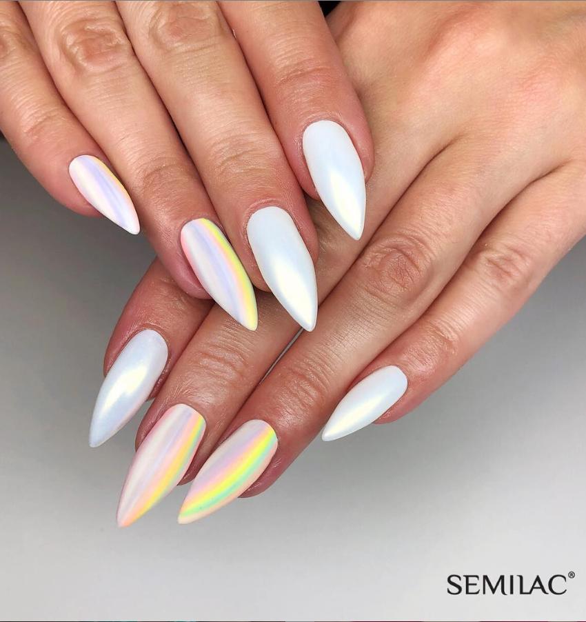 Модные идеи дизайна на овальные ногти | 1
