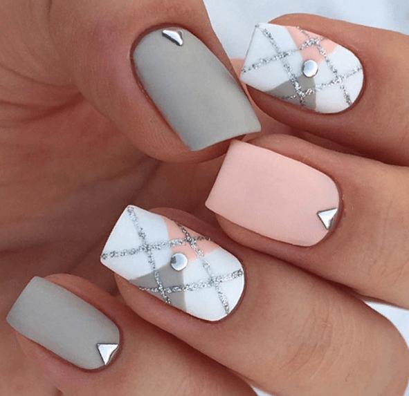 38 идей матового маникюра на короткие квадратные ногти 01
