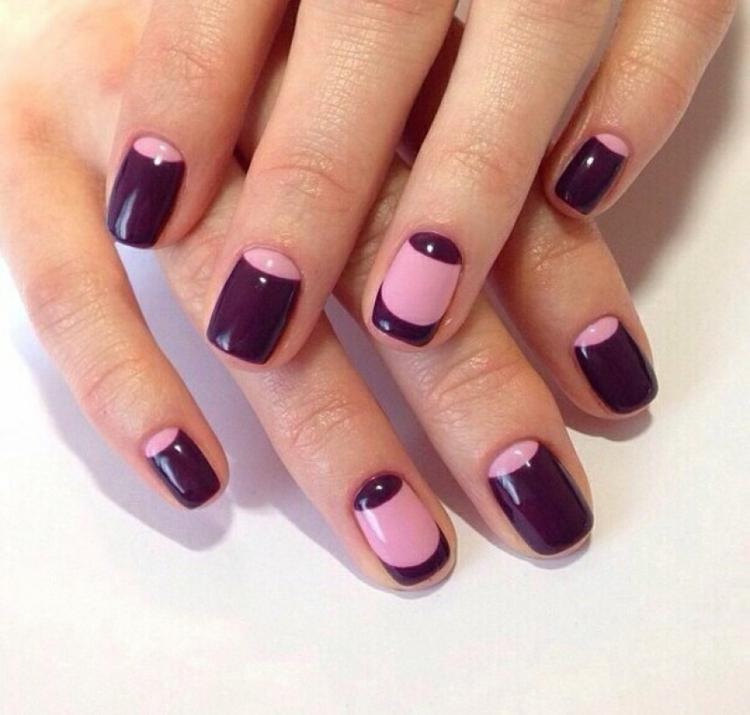 Идеи ежедневного маникюра на короткие квадратные ногти | 1