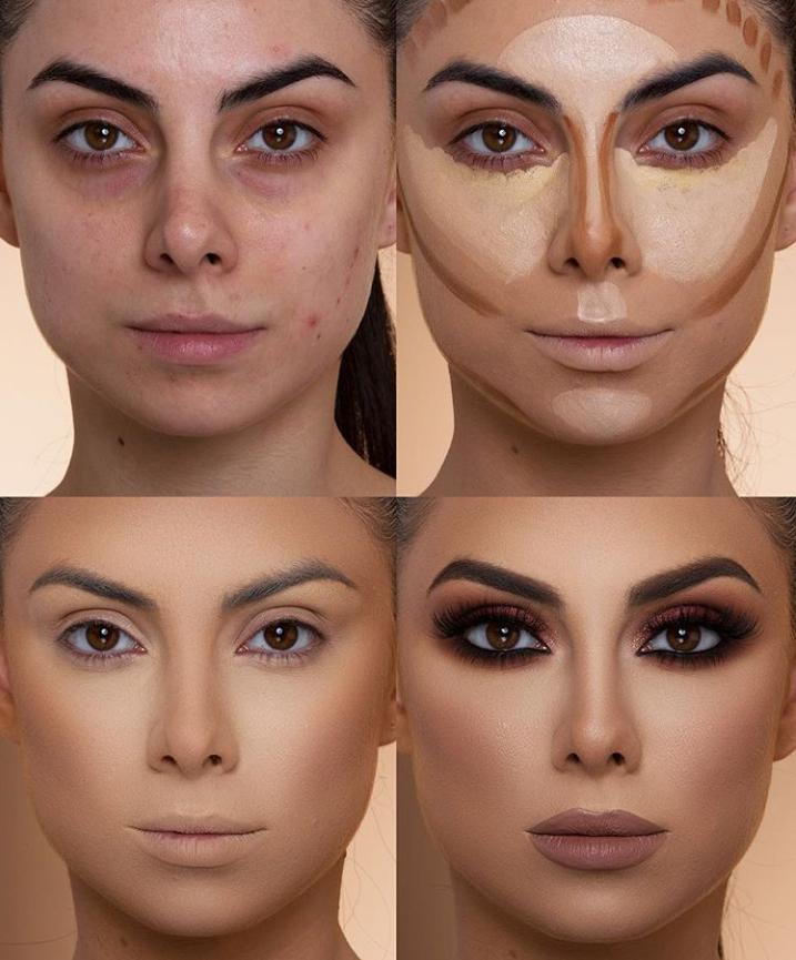 Пошаговые схемы профессионального макияжа для начинающих | 1