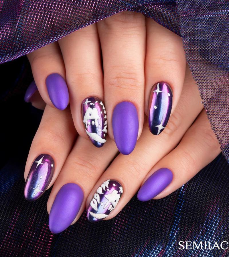 Модные идеи дизайна на овальные ногти | 12