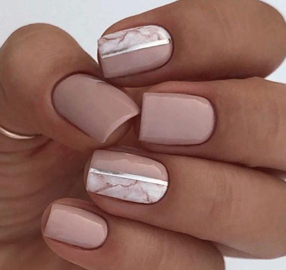 38 идей матового маникюра на короткие квадратные ногти 13