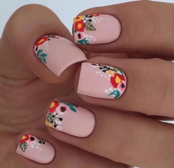 38 идей матового маникюра на короткие квадратные ногти 14