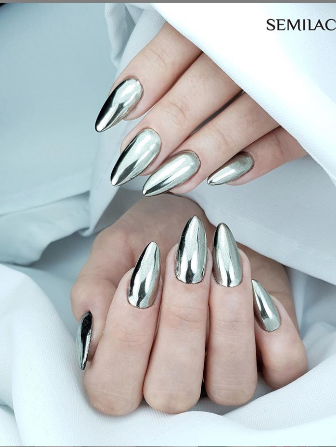 Модные идеи дизайна на овальные ногти | 14