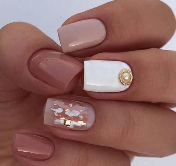 38 идей матового маникюра на короткие квадратные ногти 15