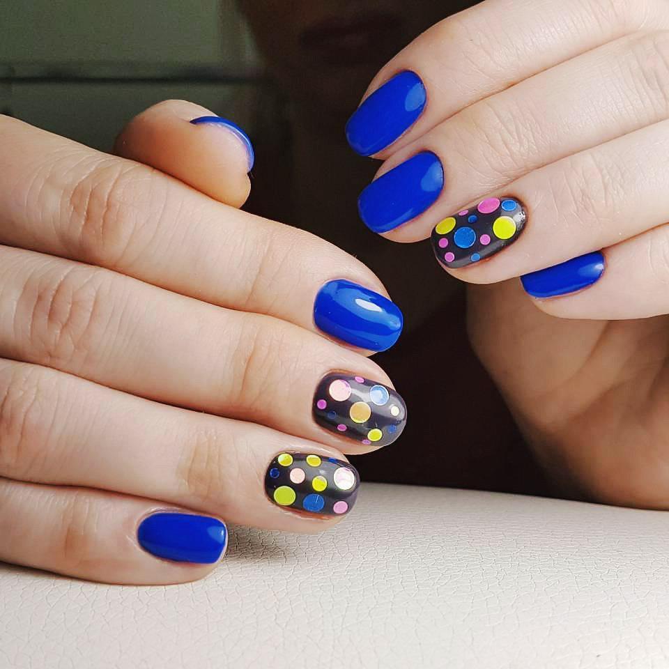 Идеи ежедневного маникюра на короткие квадратные ногти | 15