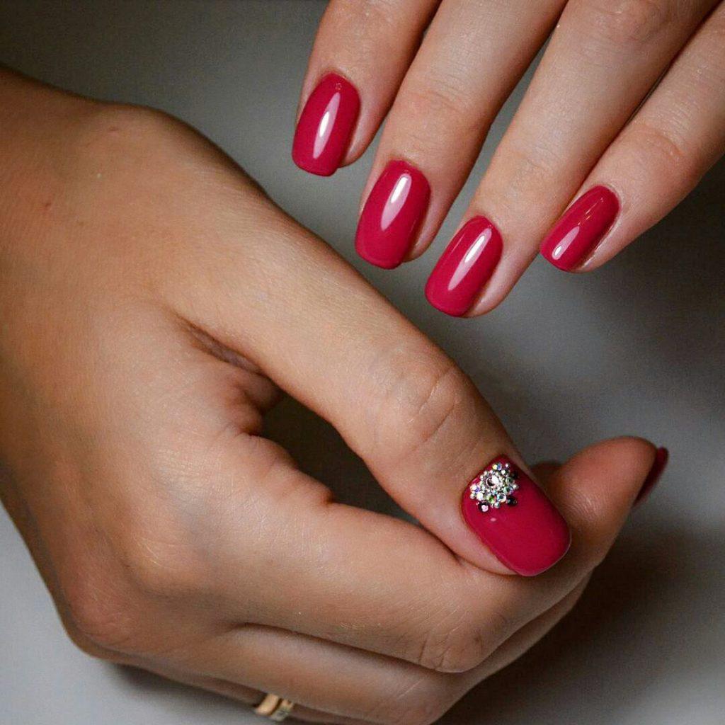 Идеи ежедневного маникюра на короткие квадратные ногти | 17