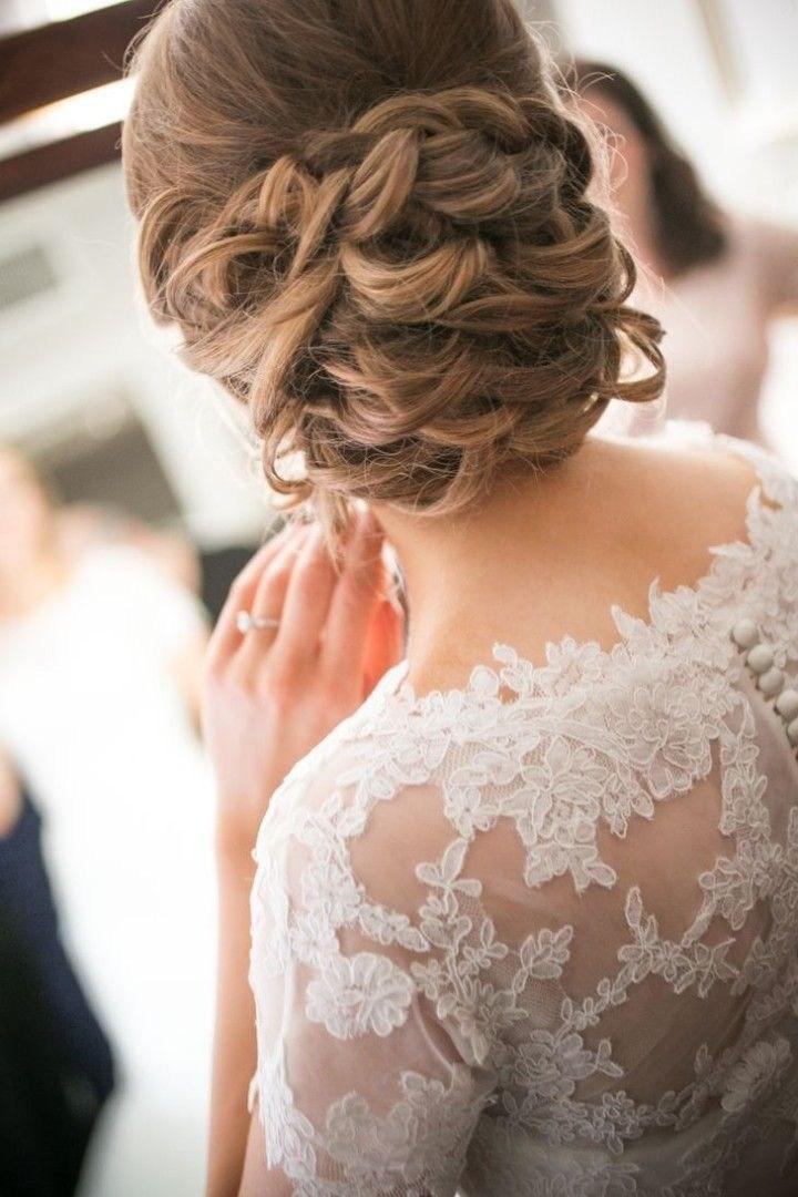 39 элегантных свадебных причесок   17