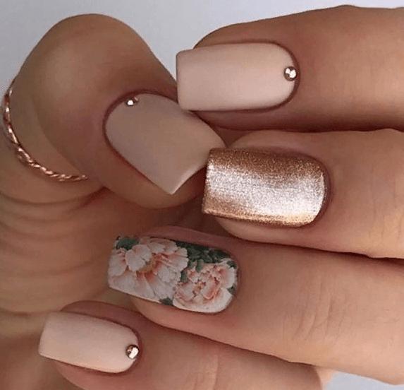 38 идей матового маникюра на короткие квадратные ногти 18