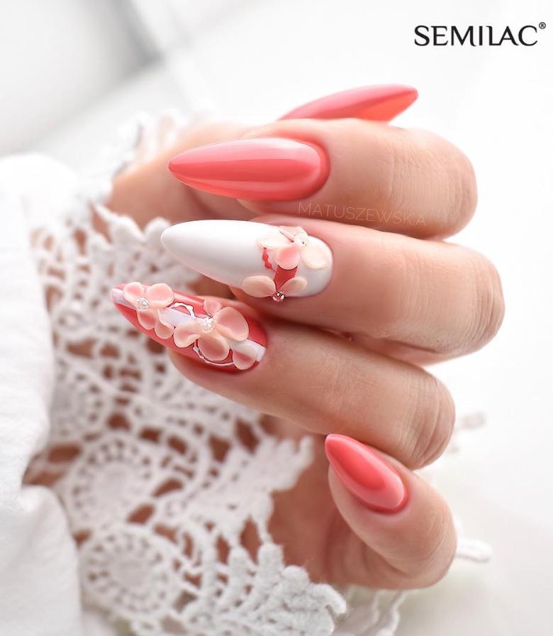 Модные идеи дизайна на овальные ногти | 18