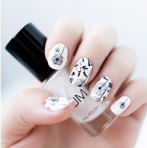 Идеи ежедневного маникюра на короткие квадратные ногти | 19