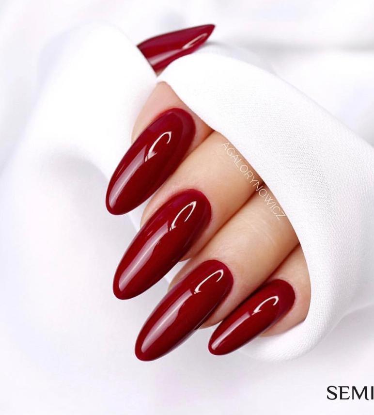 Модные идеи дизайна на овальные ногти | 19