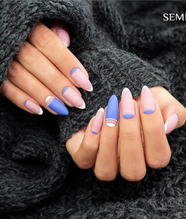 Модные идеи дизайна на овальные ногти | 2