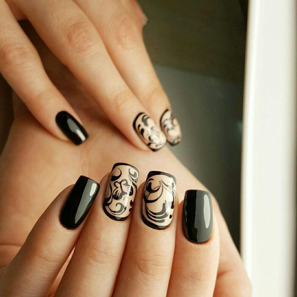 Идеи ежедневного маникюра на короткие квадратные ногти | 2