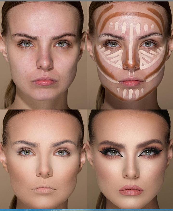 Пошаговые схемы профессионального макияжа для начинающих | 2