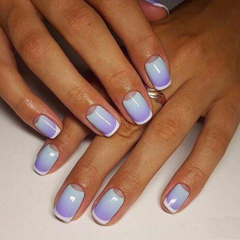 Идеи ежедневного маникюра на короткие квадратные ногти | 20