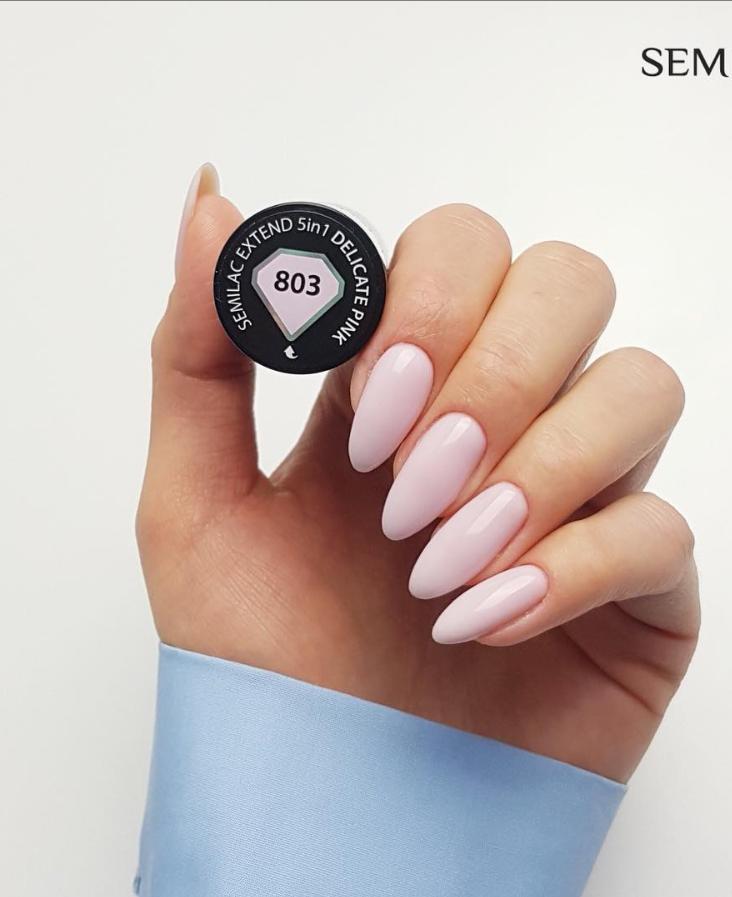 Модные идеи дизайна на овальные ногти | 20