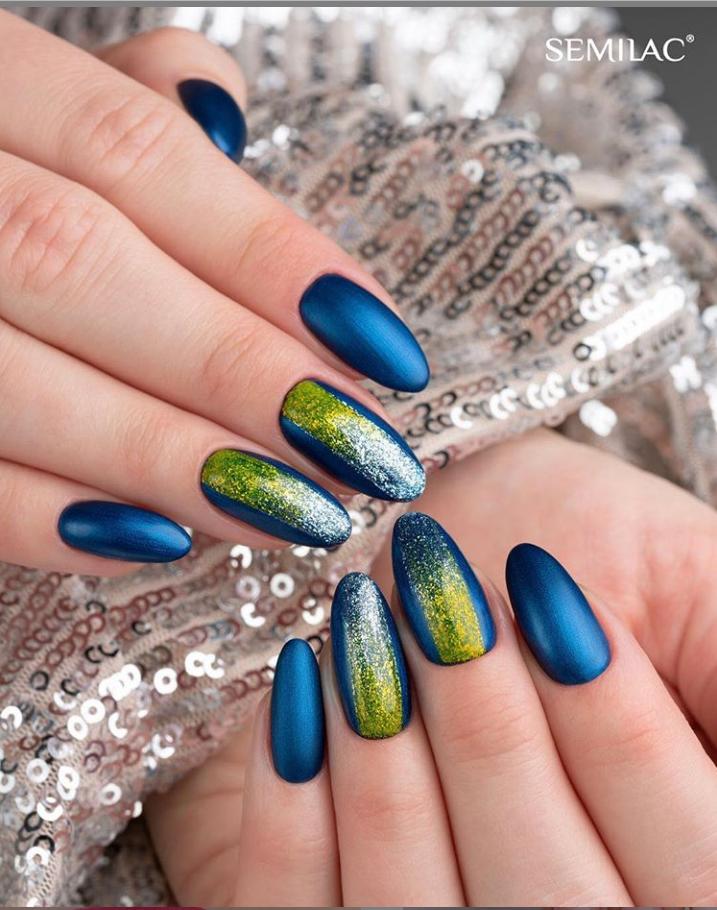 Модные идеи дизайна на овальные ногти | 21