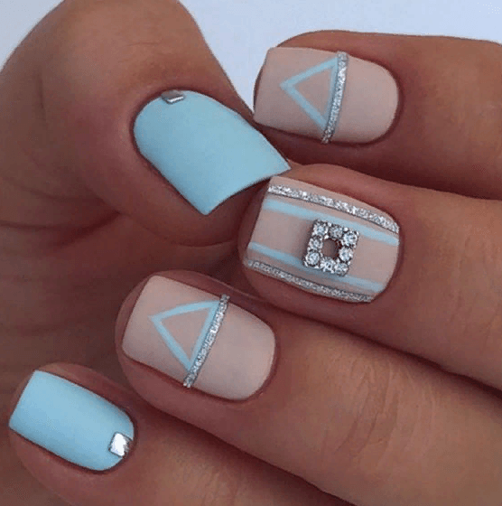 38 идей матового маникюра на короткие квадратные ногти 22
