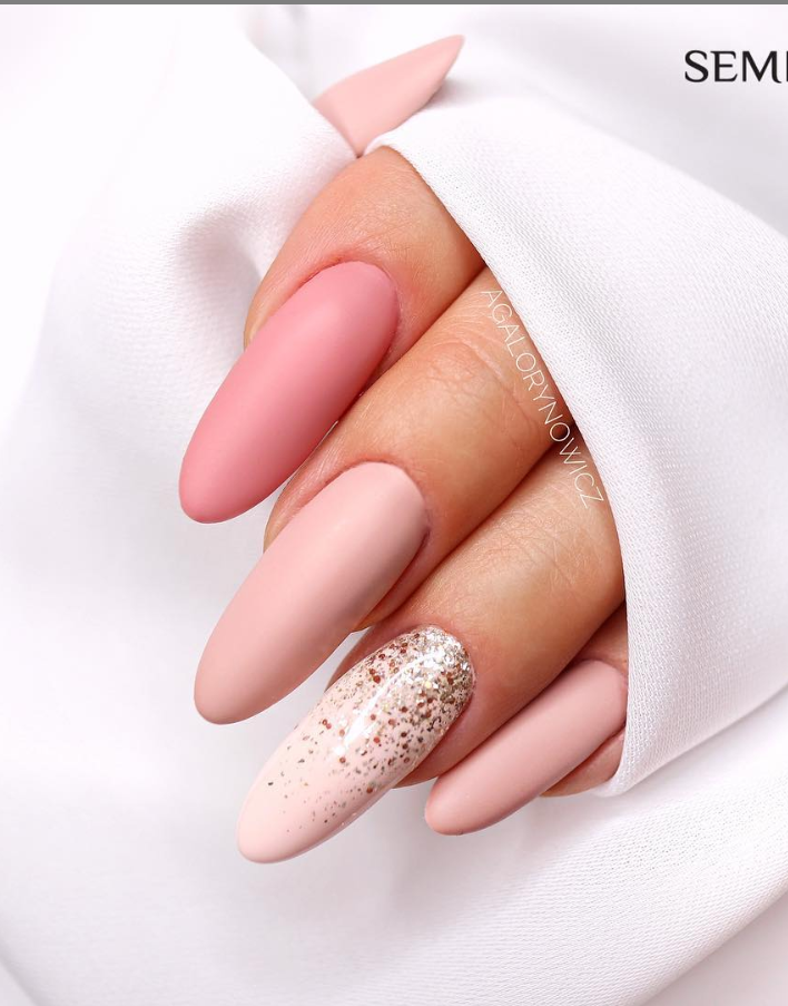 Модные идеи дизайна на овальные ногти | 22