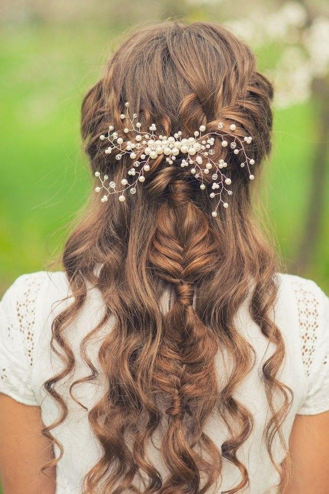 39 элегантных свадебных причесок   23