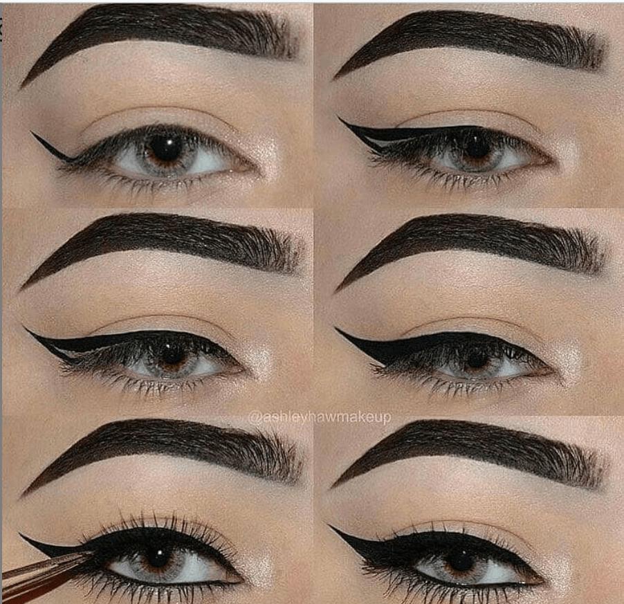 60 пошаговых схем макияжа для век | 24