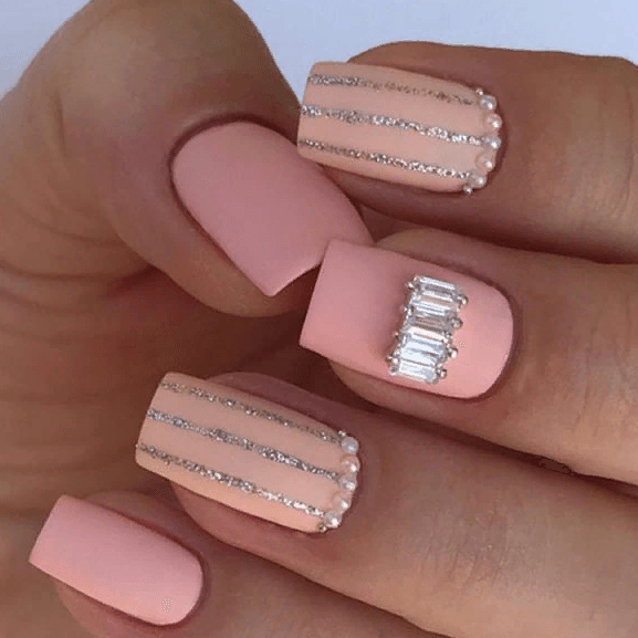 38 идей матового маникюра на короткие квадратные ногти 26