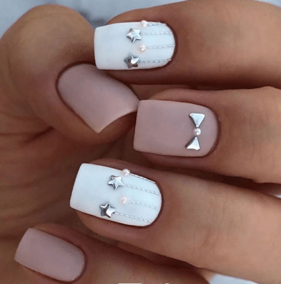 38 идей матового маникюра на короткие квадратные ногти 27