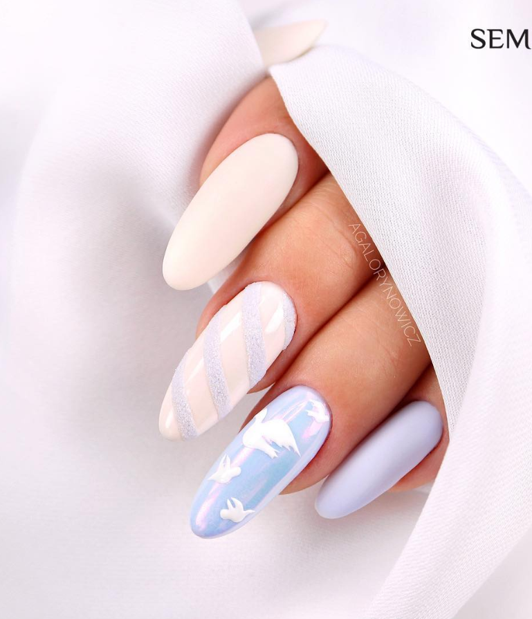 Модные идеи дизайна на овальные ногти | 27