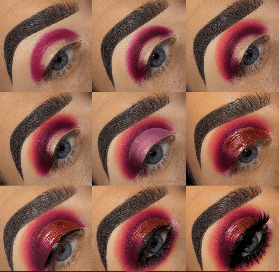 60 пошаговых схем макияжа для век | 27