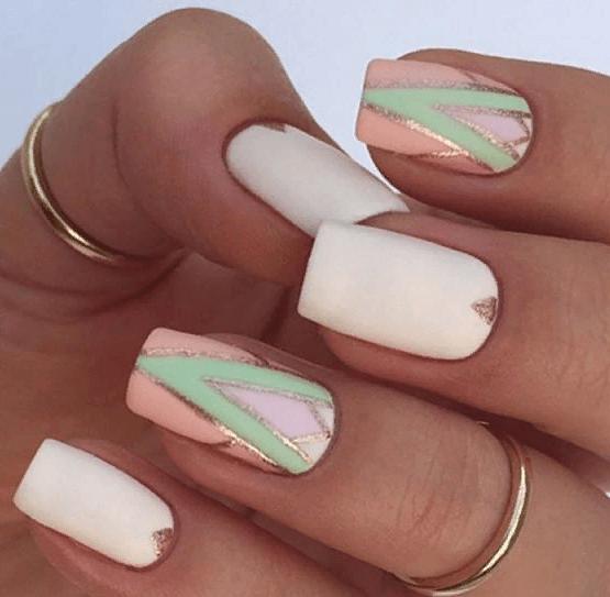 38 идей матового маникюра на короткие квадратные ногти 29